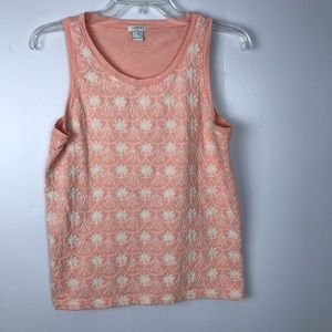 J. Crew | Embroidered Peach Top
